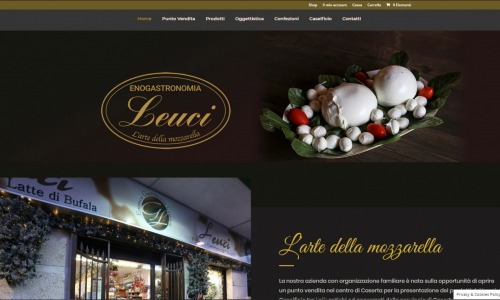 leucienogastronomia.it. 2019. Caseificio. Sito web con ecommerce.